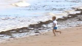 Child on beach around Thanet coast