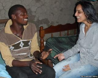 Sarika Patel and Timothy Khamala smiling