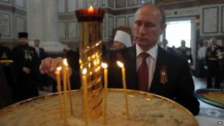 Russian President Vladimir Putin in Ukraine