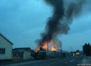 The fire in Long Eaton