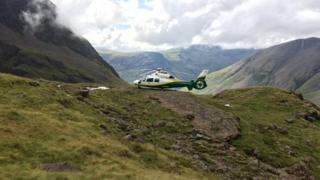 Scafell Pike rescue