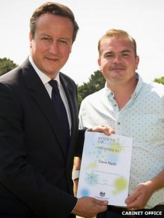 David Cameron and Dave Nash