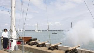 Royal Yacht Squadron cannon fire