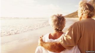 Elderly couple in the sun