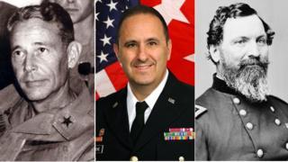 Maj Gen Dillard, Maj Gen Greene, Gen Sedgwick