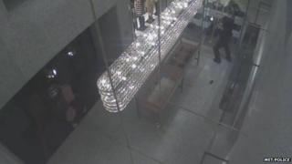 CCTV of suspects grabbing bags