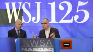Gerard Baker, Editor Wall Street Journal (left), Robert Thomson chief executive of News Corp