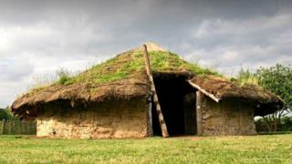 Reconstructed Bronze Age roundhouse