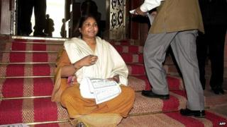 File photo of Phoolan Devi in parliament, February 2000