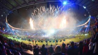 Closing ceremony at Hampden