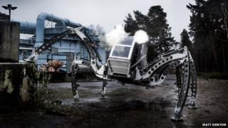 The giant mechanical hexapod 'spider'