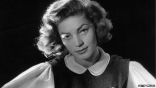 File photo: Lauren Bacall, 1 January 1951