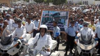 Funeral of former police chief Muhammad Suwaysi