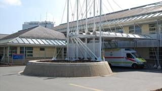 Accident and Emergency entrance at Guernsey's Princess Elizabeth Hospital