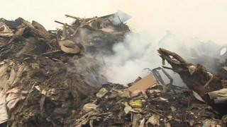 Averies Recycling Ltd - recycling fire in Swindon