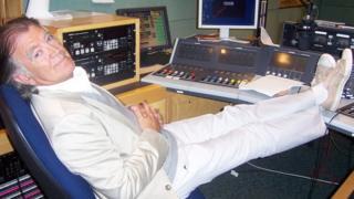 Gerry Anderson in radio studio