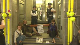 protesters at defra