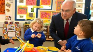 Sir Michael Wilshaw in a classroom