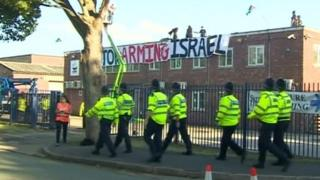 The two-day protest at UAV Engines Ltd in Shenstone began on 6 August and forced the closure of the factory.