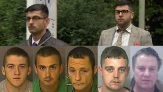Umar and Vijay Chohan (top), Liam Murphy, Martyn Richards, Nathan James, Paul Condick and Stephen Phillip