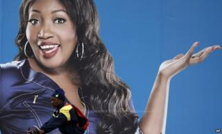 Generations' Sophie Ndaba on a Soweto billboard