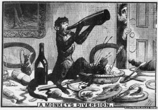 """A Monkey's Diversion"", Illustrated Police News"