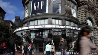 Gap store outdoor in San Francisco