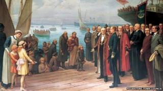Landing of the Belgian Refugees