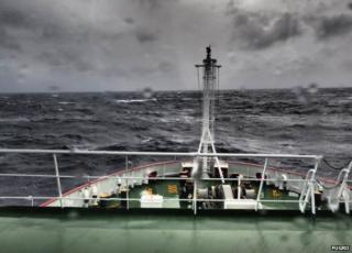 Angry seas