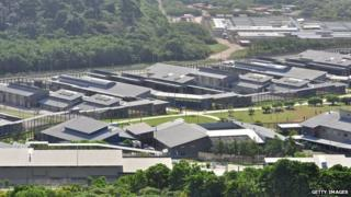 File image of Christmas Island detention camp on 26 July 2013