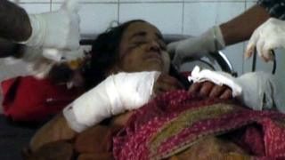 Kamla Devi in hospital