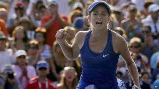 CiCi Bellis celebrates
