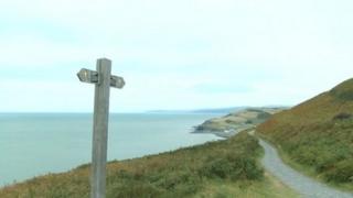 The coastal path near Borth