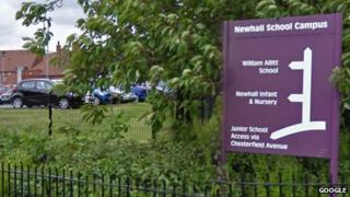 William Allitt School on the Newhall School Campus in Swadlincote