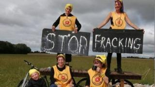 Anti-fracking protestors