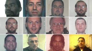 Derbyshire police have released 12 images of men who went missing from Sudbury prison between 1992 and 2006