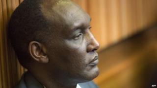 Gen Faustin Kayumba Nyamwasa in court in Kagiso near Krugersdorp on 28 August 2014