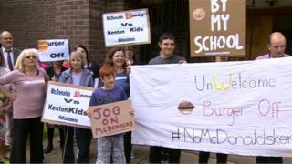 Campaigners against the Kenton McDonald's