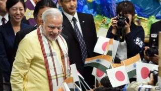 Papers say Mr Modi's Japan is aimed at boosting business sties between the two nations