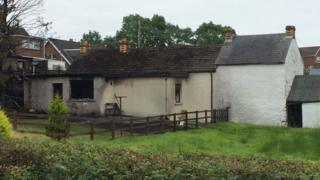 The full extent of the house fire in Carryduff