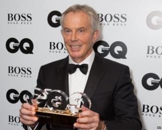 Tony Blair at GQ awards