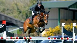 Kenneth Graham competing on Lenamore Lucy Lou in Hickstead