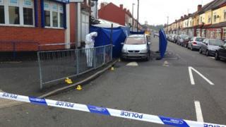 Police in Cheshire Road, Smethwick