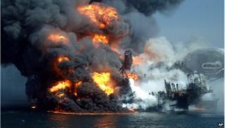 BP oil spill explosion