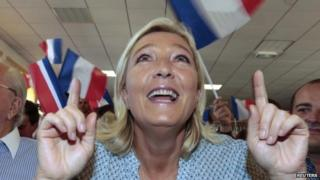 National Front leader Marine Le Pen. Photo: 7 September 2014