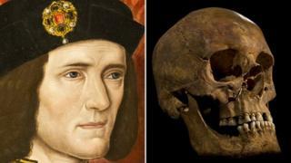 Richard III portrait and skull