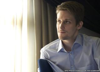 Undated photo of Edward Snowden