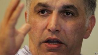 Nabeel Rajab in Bani Jamra, Bahrain (24 May 2014)