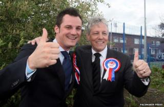 Gareth Robinson (left) and Peter Robinson (right)