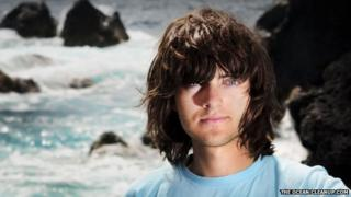 Boyan Slat in front of rough seas
